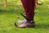 Medieval European Long Toed Shoes — Stock Photo