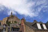 Mont Saint Michel skylines — Stock Photo
