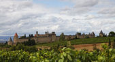 Carcassonne fortified town — Stock Photo