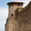 Walls of Carcassonne-detail — Stock Photo