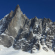 Westface of the Petit Dru - Stock Photo