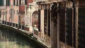 Small Venetian canal — Stock Photo