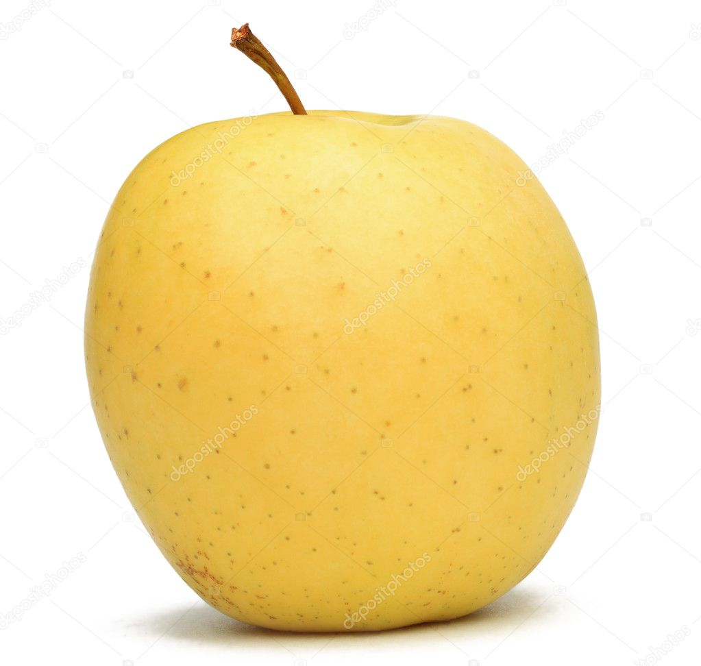 Image of a yellow apple against a white background. — Stock Photo #7668295