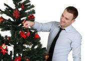 Adam Noel ağacı süsleme — Stok fotoğraf