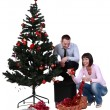 Decorating the Christmas tree — Stok Fotoğraf #7940559