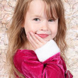 Little girl posing with Christmas dress — Stock Photo #7744245