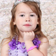 Little girl Dressed as Princeness — Stock Photo #7744362