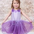 Little girl Dressed at Princess — Stock Photo #7744420
