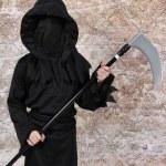 Boy in Halloween Suit — Stock Photo