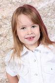 Cute little girl posing — Stock Photo