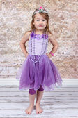 Little girl Dressed as Princess — Stock Photo