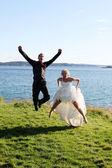 Mariage - la mariée et le marié — Photo