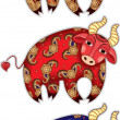 Royalty-Free Stock Imagen vectorial: Bull set
