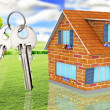 House with keys - Stock Photo