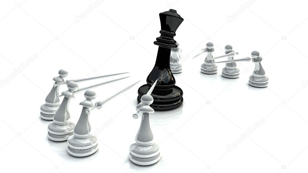 Chess motivation pictures for business — Stock Photo #6979424