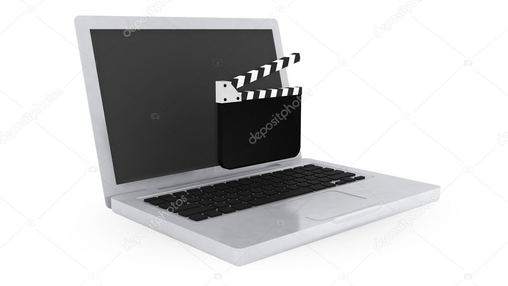 Computer  on white background — Stock Photo #7154145
