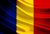 Romania Flag — Stock Photo