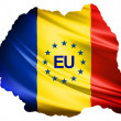 Romania Country Flag — Stock Photo