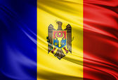 Moldova Country Flag — Stock Photo