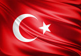 Turkey flag — Stock Photo