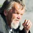 Homeless old man — Stock Photo