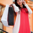 Happy young woman on the phone — Stock Photo