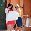 Two young women with shopping bags — Stock Photo #6772832