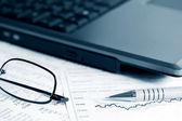 Stock market reports — Stock Photo