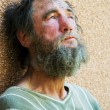 Homeless man in despair — Stock Photo