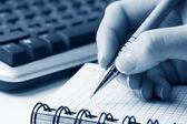 Female hands writing — Stock Photo