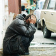 Homeless man in despair — Stock Photo #6866193