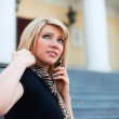 Young woman on the phone — Stock Photo #6866269