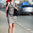 Young woman on a city street — Stock Photo #6866350