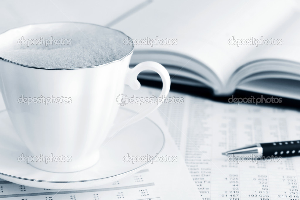 Coffee and accounting. — Stock Photo #6866130