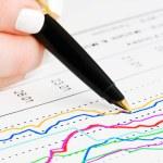 Stock index monitoring — Stock Photo