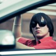 Young mdriving convertible — Stock Photo #6944139
