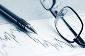 Burzovní grafy analýzy — Stock fotografie
