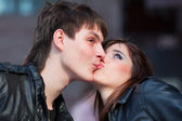 Loving kiss — Stock Photo