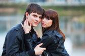 Mutlu genç bir çift aşık — Stok fotoğraf