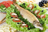 Stuffed pike — Stock Photo