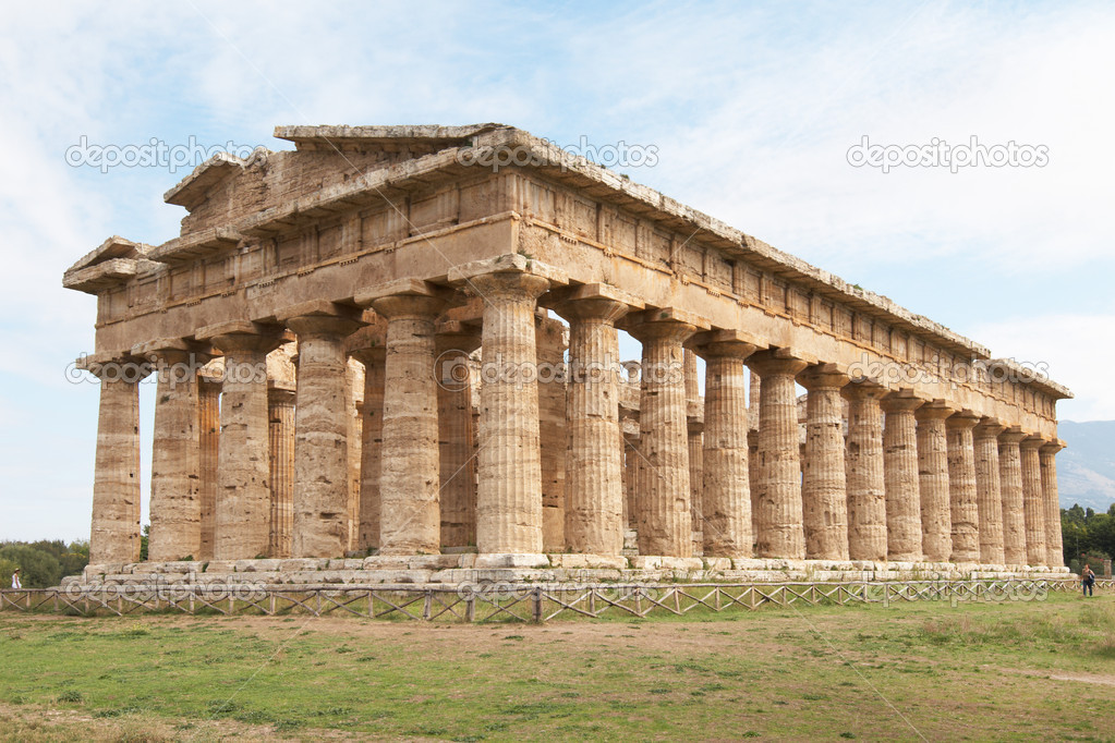 Italy, Paestum. The Temple of Hera-II (formerly known as Neptune or Apollo)  Stock Photo #7530922