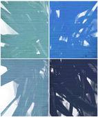 Pintura y costilla azules texturas aislados — Foto de Stock