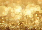 Twinkley světla a hvězdy vánoční pozadí — Stock fotografie
