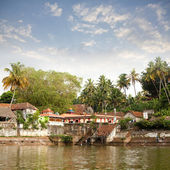 Ancient Hindu Janadhana Temple in Varkala, Kerala, India. — Stock Photo