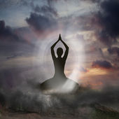 Yoga and Spirituality — Stock Photo