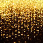ライトのクリスマスやパーティーの背景の雨 — ストック写真