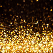 Golden Christmas Lights Background — 图库照片