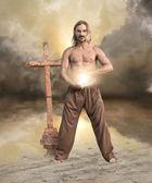 Spiritual Man Brings Light — Stock Photo