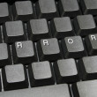 Royalty-Free Stock Photo: Error on keyboard