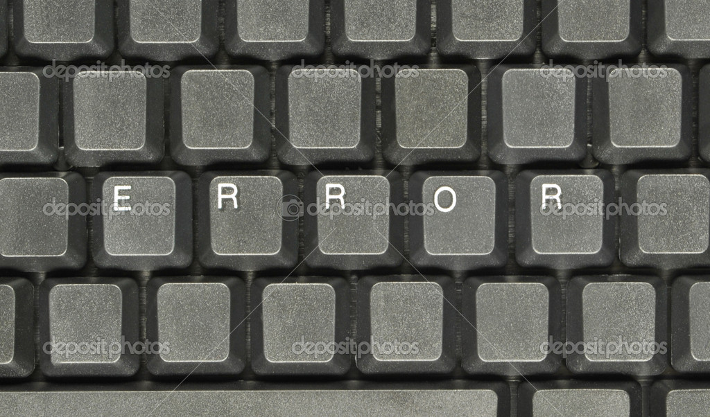 ERROR on computer keyboard — Stock Photo #7136579